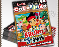 Revista de colorir Jake e os Piratas