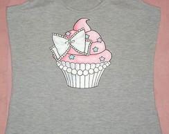 Camiseta feminina cupcake a6bd97e812004
