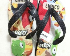 Chinelo do Angry Birds