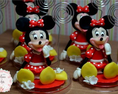 Mickey/Minnie na Base de Acrílico