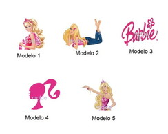 Aplique Barbie 3 cm