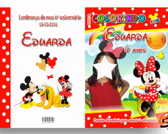 Revista de Colorir Minnie Vermelha