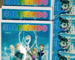 Kit de colorir Frozen com massinha