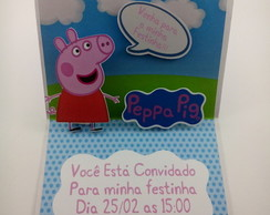 Convite Pop Up Peppa Pig
