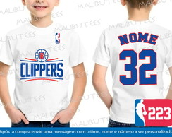 Camiseta Infantil Los Angeles Clippers