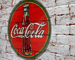 Placa Redonda Coca Cola Bottle