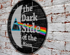Placa Redonda Dark Side Moon