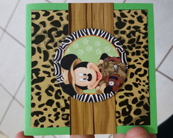 Convite Scrapbook Safari do Mickey