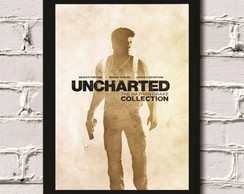 Poster com Moldura Uncharted game