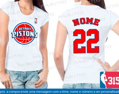 Baby Look Detroit Pistons Basquete Nba