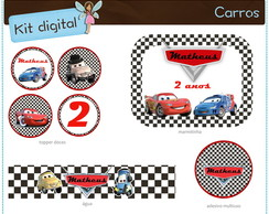 Kit festa Carros Disney | digital