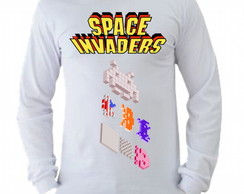 Camiseta space invaders Manga Longa 01