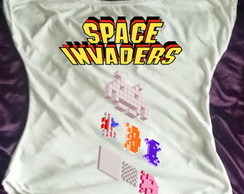 Camisa Gola Canoa Space Invaders 01