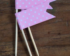 Pick cor de rosa[kit com 10]