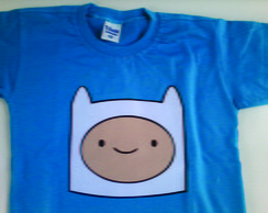 Camiseta do Finn Hora de Aventura
