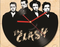 Relógio de Disco de Vinil (THE CLASH)