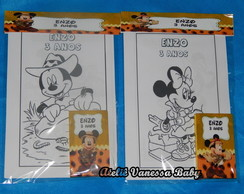 Kit Pintura Mickey e Minnie Safari