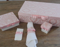 Kit Casamento Rosa Chanel (100 ps)