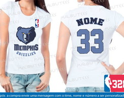 Baby Look Memphis Grizzlies Basquete Nba