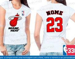 Baby Look Miami Heat Basquete Nba