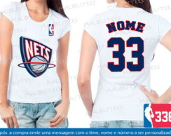 Baby Look New Jersey Nets Basquete Nba