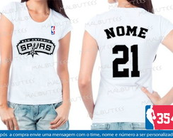 Baby Look San Antonio Spurs Basquete Nba