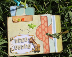 Mini Álbum Scrapbook Envelope de Tags