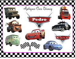 Kit 10 recortes Cars Disney