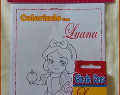 Kit de Colorir Branca de Neve!
