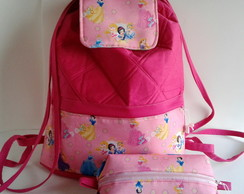 Mochila Princesas kit escolar