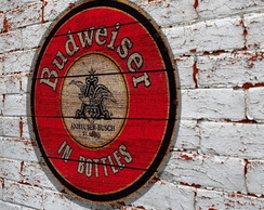Placa Redonda Budweiser In Bottles
