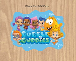 Placa Pvc bubble guppies