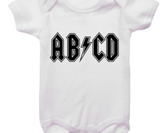 Body de bebê divertido Rock ABCD