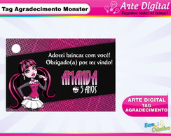 Arte Tag de Agradecimento Monster High