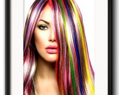 Quadro Fashion Color Hair com Paspatur