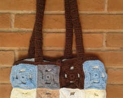 Brown and Blue Bag