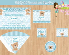 Kit Digital Personalizado Urso Azul