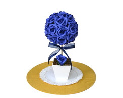 Arranjo de Rosas Topiária Azul Royal - G