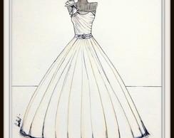 Ilustração De Vestido De Noiva No Elo7 Noiva Arte