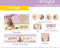Kit Digital Enrolados Rapunzel