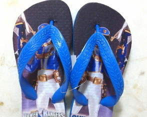 Chinelo Power Rangers Azul