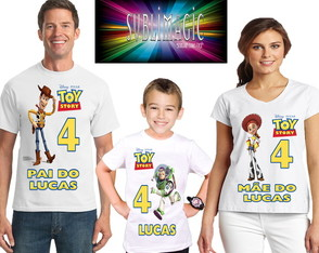 Kit 3 Camisetas Toy Story A1