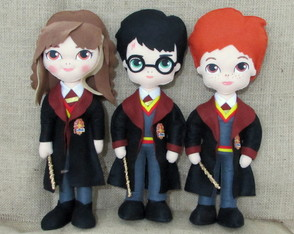 Bonecos Harry Potter - 3 personagens