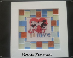 Quadro Mickey e Minnie in love