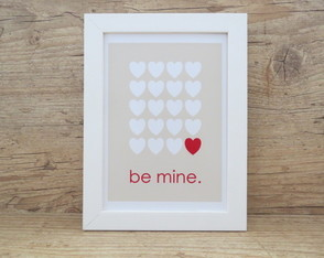 "Quadro Decorativo Frase ""Be Mine"""""