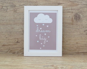 "Quadro Decorativo Frase ""Dream Big"" 2"