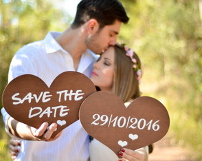 Placas p/ Save the Date Rústico Mod III