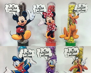 Aplique para Tubete Turma do Mickey - 9,5cm