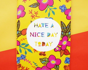 "Caderno ""Have a nice day"""