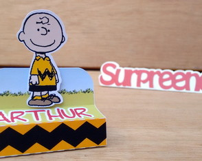 Caixa p/ Chocolate Duplo - Charlie Brown